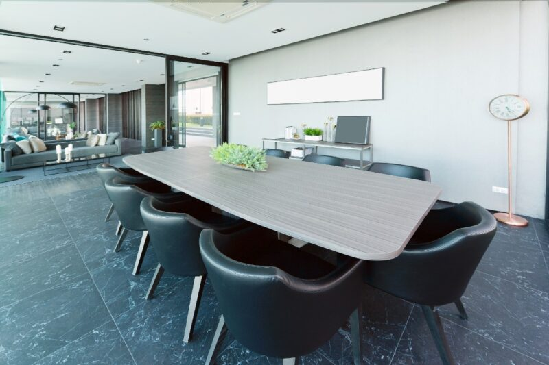 Commercial cleaning services board room